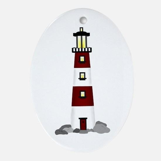 Lighthouse Oval Ornament