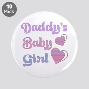"""Daddy's Baby Girl 3.5"""" Button (10 pack)"""