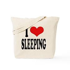 I Love Sleeping Tote Bag