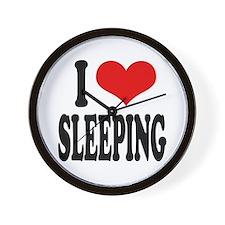 I Love Sleeping Wall Clock
