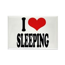 I Love Sleeping Rectangle Magnet