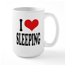 I Love Sleeping Large Mug