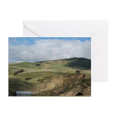 Countryside w/ Metal Barn Greeting Cards (6)