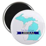"""2.25"""" Magnet (10 pack) True Blue Michigan LIBERAL"""