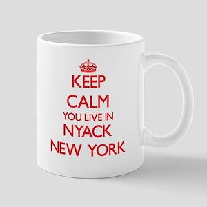 Keep calm you live in Nyack New York Mugs