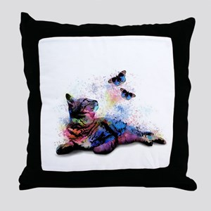 Cat 614 Throw Pillow