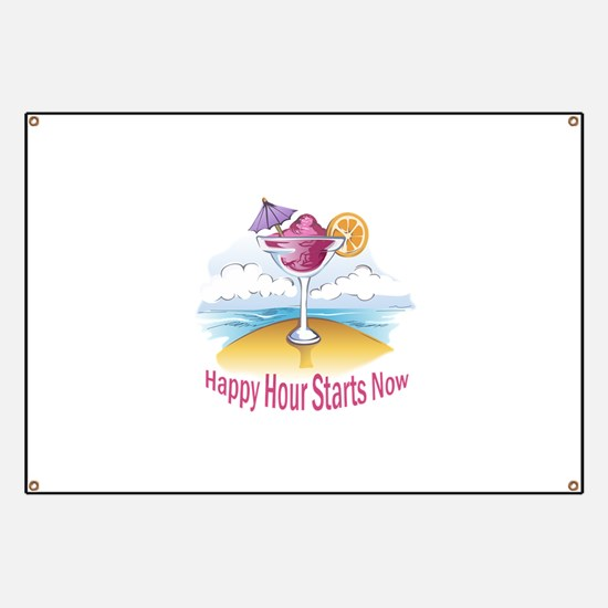 HAPPY HOUR STARTS NOW Banner