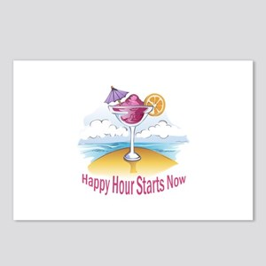 HAPPY HOUR STARTS NOW Postcards (Package of 8)