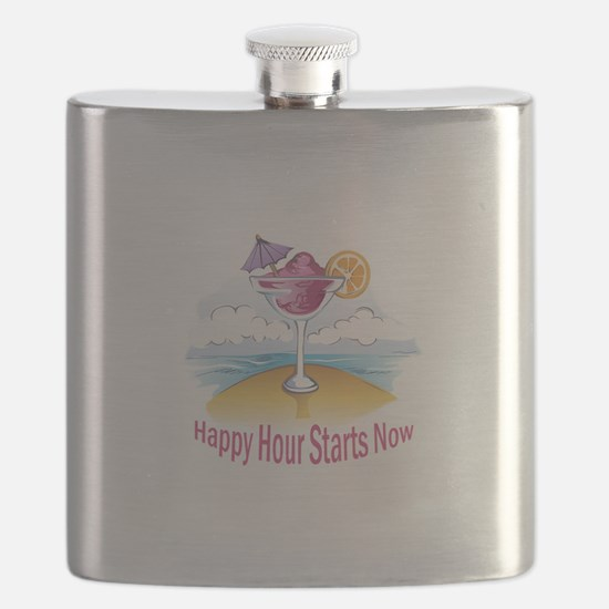 HAPPY HOUR STARTS NOW Flask