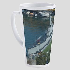 U.S.S. Cod 17 oz Latte Mug