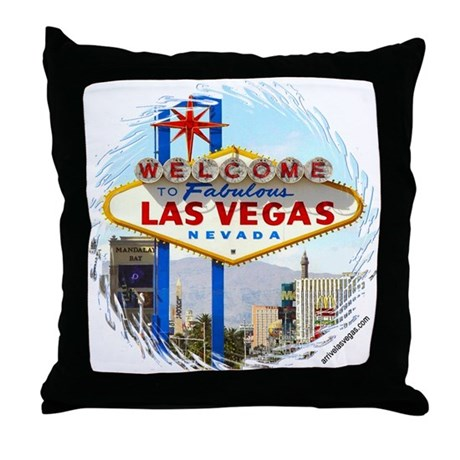 Las Vegas (day) Throw Pillow