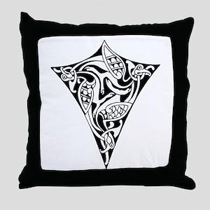 Celtic Zoomorphic Shield Throw Pillow