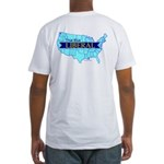 True Blue United States LIBERAL Fitted T-Shirt