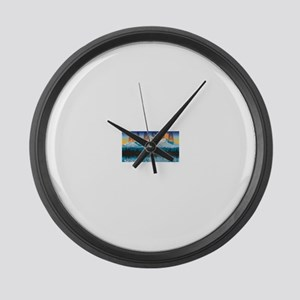 mtns.8B.. Large Wall Clock