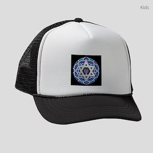 JEWISH STAR AND MENORAH Kids Trucker hat