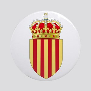 Catalonia Coat of Arms Round Ornament