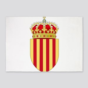 Catalonia Coat of Arms 5'x7'Area Rug
