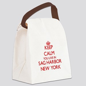 Keep calm you live in Sag Harbor Canvas Lunch Bag