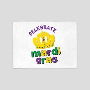 Celebrate Mardi Gras 5'x7'Area Rug