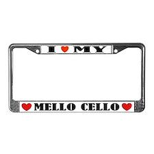 I Love My Mello Cello License Plate Frame