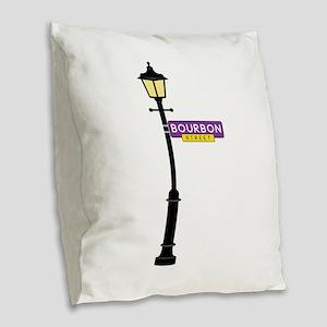 Bourbon Street Burlap Throw Pillow