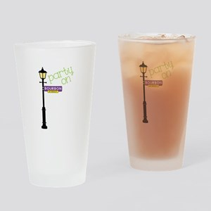 Party on Bourbon St Drinking Glass