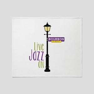 Live Jazz Throw Blanket