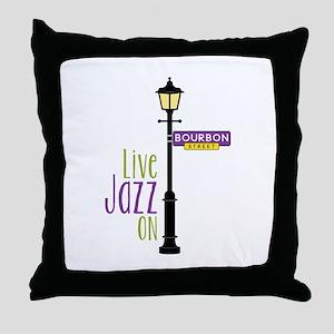 Live Jazz Throw Pillow