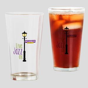 Live Jazz Drinking Glass
