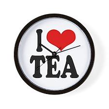 I Love Tea Wall Clock
