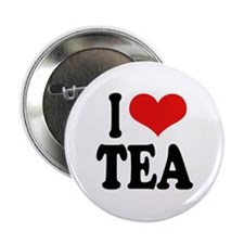 I Love Tea Button