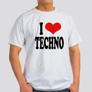 I Love Techno Light T-Shirt