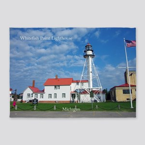 Whitefish Point Lighthouse 5'x7'area Rug