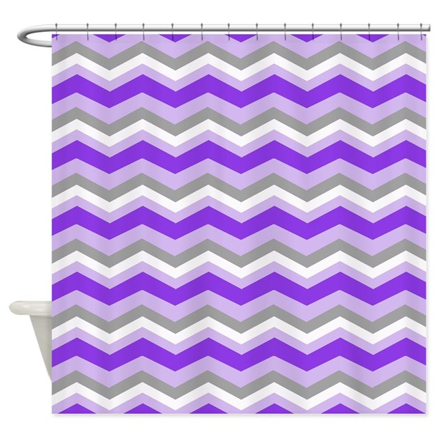 purple gray chevron shower curtain by listing store 62325139. Black Bedroom Furniture Sets. Home Design Ideas
