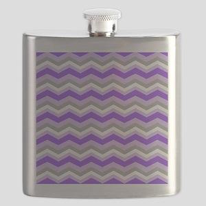 purple gray chevron Flask