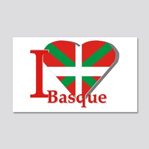 I love Basque 20x12 Wall Decal