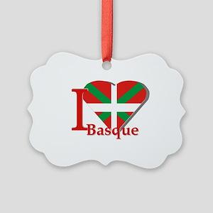 I love Basque Picture Ornament