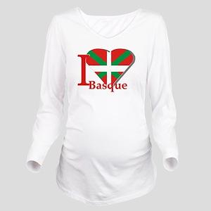 I love Basque Long Sleeve Maternity T-Shirt