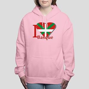 I love Basque Women's Hooded Sweatshirt