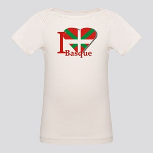 I love Basque Organic Baby T-Shirt