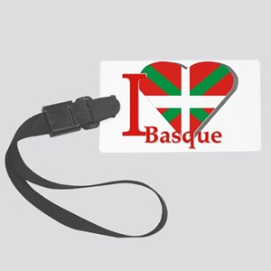 I love Basque Large Luggage Tag