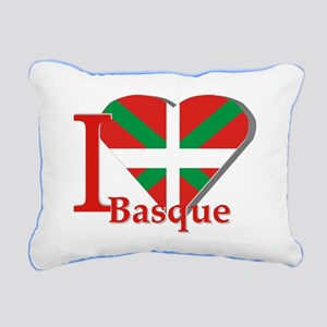 I love Basque Rectangular Canvas Pillow