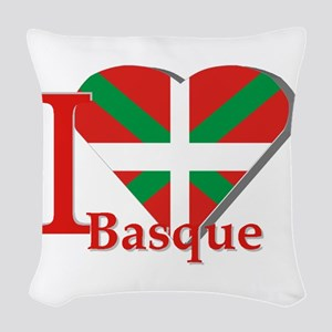 I love Basque Woven Throw Pillow