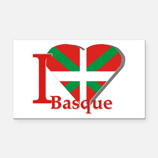 I love Basque Rectangle Car Magnet