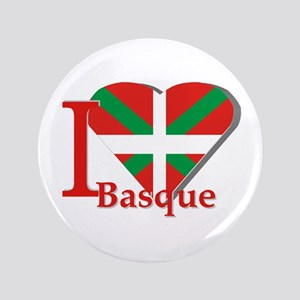 """I love Basque 3.5"""" Button"""