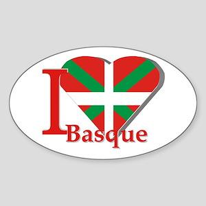 I love Basque Sticker (Oval)