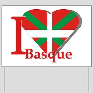 I love Basque Yard Sign
