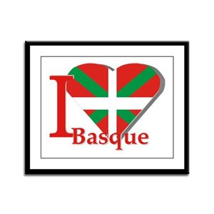 I love Basque Framed Panel Print