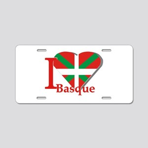 I love Basque Aluminum License Plate