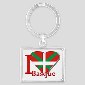 I love Basque Landscape Keychain